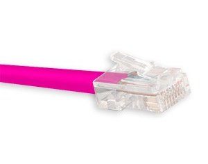 "Cat5e ""No Kink"" Patch Cable Color Pink"