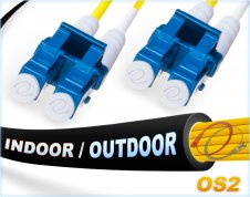OS2 LC LC Fiber Patch Cable | In/Outdoor Duplex 9/125 Singlemode