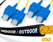OS2 SC-SC Indoor/Outdoor 9/125 Singlemode DX Fiber Cable