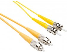 TAA OS2 ST FC Duplex Fiber Patch Cable 9/125 Singlemode