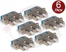 6 X LC SC Fiber Adapters F/F | Duplex Metal Hybrid Single/Multimode