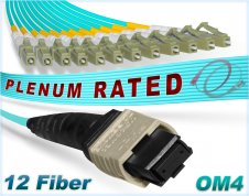 OM4 MPO LCx12 Multi-Fiber Breakout Cable 100G Multimode MTP®