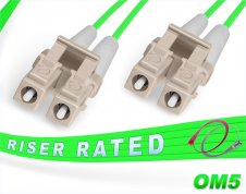 OM5 LC LC Fiber Patch Cable | 100G Duplex 50/125 Multimode Jumper