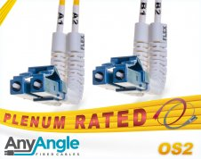 OS2 LC LC Fiber Patch Cable | AnyAngle Plenum DX 9/125 Singlemode Jumper