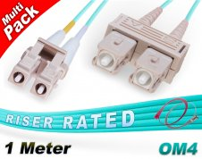 Multi-Pack 1M OM4 LC SC Fiber Patch Cables 50/125 Duplex Multimode